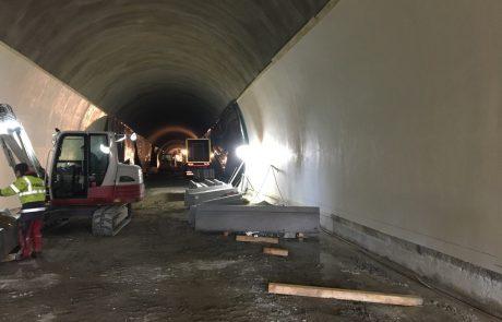 Tunnel Dürnstein Spritzbeton nach Aufbringung