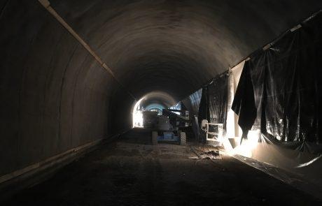 Innenansicht Tunnel der mit Spritzbeton von Lasselsberger gefertig wurde in Dürnstein Niederösterreich